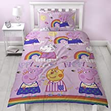 Peppa Pig Friends Duvet Cover With Matching Pillow Case – Two Sided Reversible