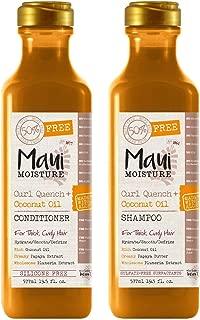 Maui Moisture Curl Quench & Coconut Oil Shampoo & Conditioner Set 19.5 Ounce