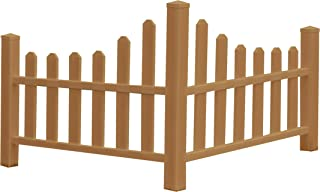 New England Arbors VA84050 Composite Country Picket Fence, Brown