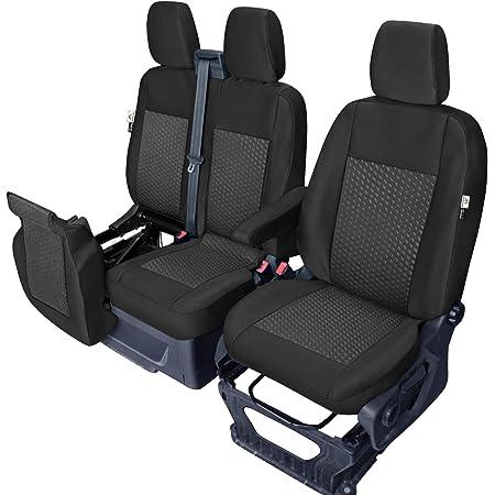 Maßgefertigter Sitzbezug Modellspezifischer Sitzbezug Fahrersitz 2er Beifahrersitzbank Für Ford Transit Custom Super Qualität Stoffart Vip In Diesem Angebot Schwarz Muster Im Foto Auto