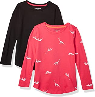 Amazon Essentials Girl's 2-Pack Long-Sleeve Tees