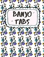 Banjo Tabs: Write Down Your own Banjo Music! | Pretty Tablature Songbook to Write in | Blank Sheet Music Notebook: Learn How to Play Bluegrass, Folk ... Blank Sheet Music Paper Tablature for Banjo