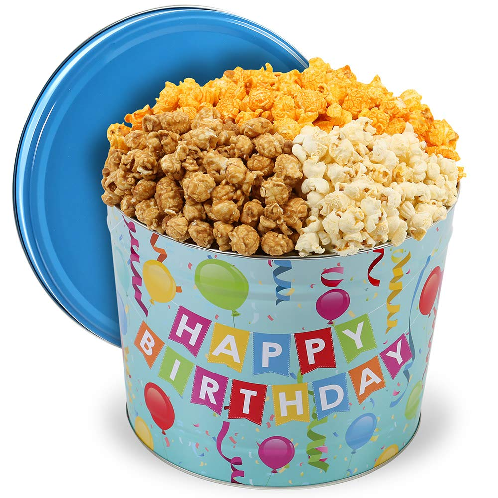 Happy Birthday Popcorn Tin National uniform free shipping People's Mix Choice 2 Gallons sold out