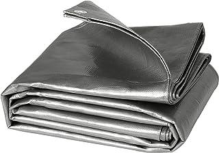 WOLTU Lona Impermeable Lona de Protección, Duradera con Ojales para Muebles, Jardín, Piscina, Coche 180 g/m2 Gris 4x6m GZ1178m7