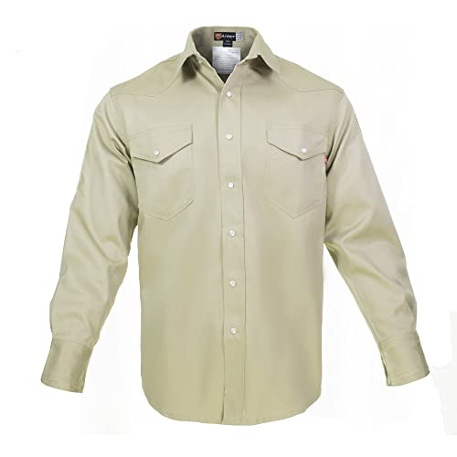 59153e7bd8d Flame Resistant FR Shirt - 100% C - Light Weight