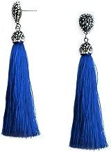 Me&Hz Thread Tassel Earrings Statement Tassel Dangle Earrings Bohemian Fringe Drop Earrings Gifts for Women