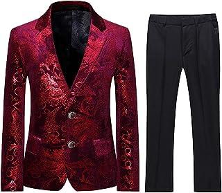Boys Red Suits Set 3 Piece Size 2T-18 Slim Fit Boy Tuxedo Suit SHENLINQIJ