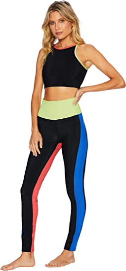 Color-Blocked Rib Leggings
