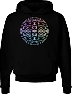 Flower of Life Circle Dark Hoodie Sweatshirt