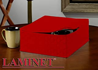 LAMINET Quilted Mug/Cup Storage Case - Holds Up to 12 Mugs/Cups - RED