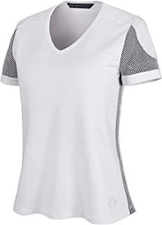 HARLEY-DAVIDSON Official Women's 3D Mesh Accent Tee, White