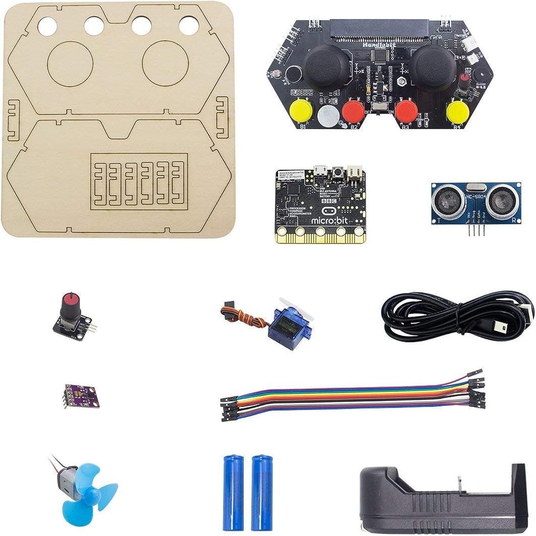 Hiwonder Handlebit Handle Controller Micro bit Learning Kit Development Board with Micro bit Board for STEAM Starter