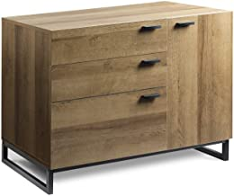 WLIVE 3 Drawer Dresser, Wide Chest of Drawers with 1 Side Door, Wood Storage Cabinet with Sturdy Metal Frame for Bedroom a...