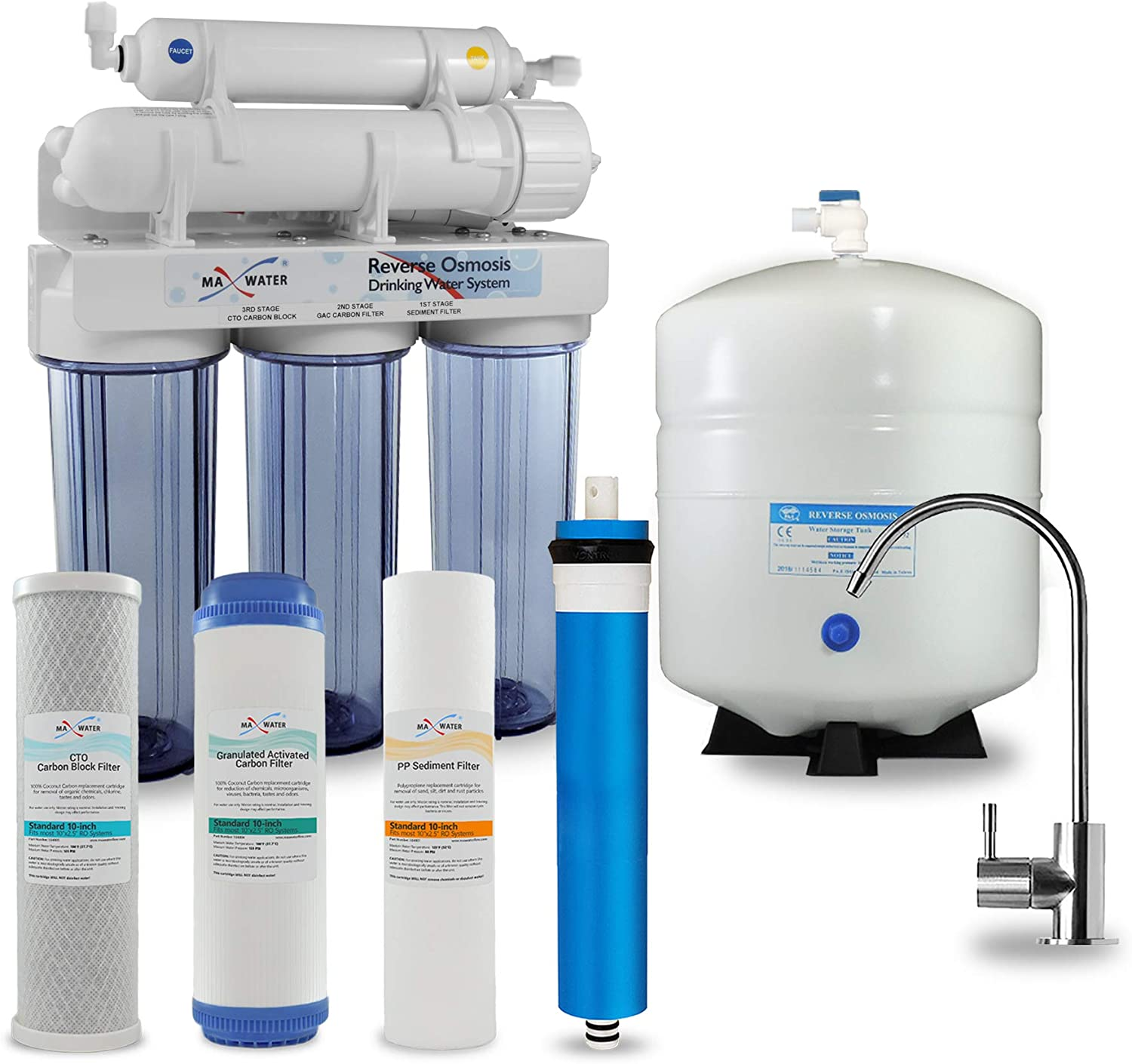 5 Stage Attention brand Max Water Home Philadelphia Mall Reverse System with compression T Osmosis