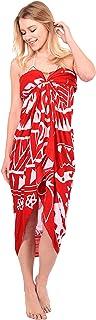 أغطية ثوب السباحة Cheeu للنساء للشاطئ رداء السباحة سارونغ يغطي العديد من الألوان للاختيار مع أساور الخيزران