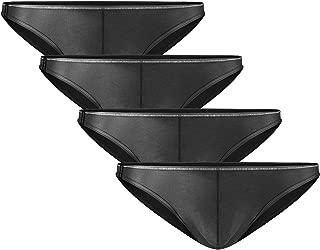 David Archy Men's 4 Pack Micro Modal Briefs Lightweight Sexy Bikinis