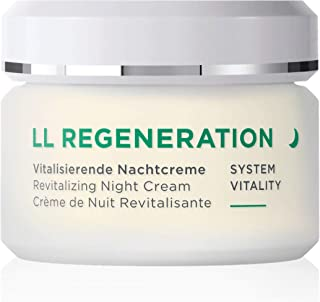 ANNEMARIE BÖRLIND - LL REGENERATION Revitalizing Night Cream - Natural Anti Aging Vitamin C, E and Retinol Face Cream for Visibly Firmer and Wrinkle Free Skin - Step 4 of 5-1.69 Oz.