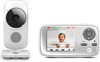 "Motorola MBP483 2.8"" Video Baby Monitor with Digital Zoom, Two-Way Audio and Room Temperature Display"