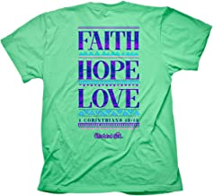Cherished Girl Women's Faith Hope Love T-Shirt - Mint -