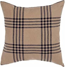 Home Collection by Raghu Chesterfield Check Oat & Black Pillow Cover, 18 x 18