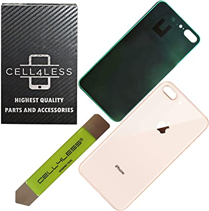 439419f4c Cell4less Back Glass Cover Battery Door Replacement w Adhesive   Green  Removal Tool Compatible with