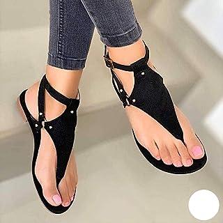 Sandali estivi da donna alla moda con strass e fondo grasso da donna, infradito da spiaggia all'aperto, sandali da donna