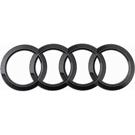 Original Audi Aufkleber Ringe Emblem Logo Selbstklebend Auto