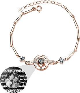 100 lingue TI AMO Braccialetto di proiezione Braccialetto personalizzato con foto San Valentino per moglie