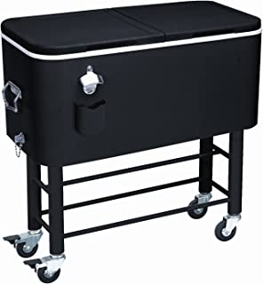 Rio Brands Entertainer Rolling Party Cooler (77 Quarts, Midnight Sands)