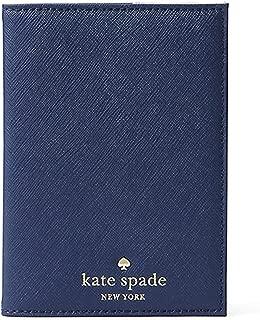 Kate Spade New York Mikas Pond Leather Passport Holder (Oceanic Blue)
