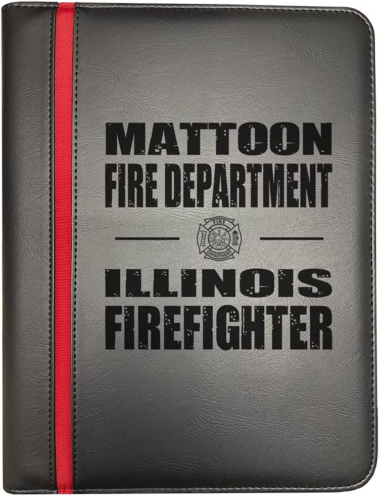 Mattoon Illinois Fire Recommendation Departments NEW before selling ☆ Thin Line Firefighter Red