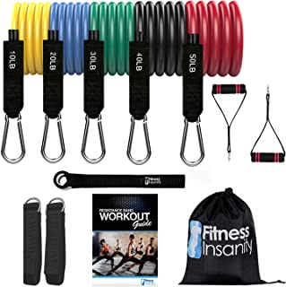 Fitness Insanity Resistance Band Set - Include 5...