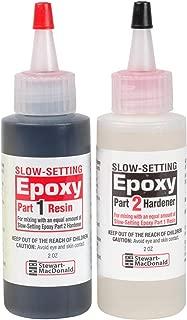 StewMac 2-Part Epoxy, Slow-Setting, Black