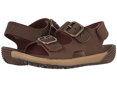 Merrell Kids Bare Steps Sandal (Toddler) (Brown) Boys Shoes
