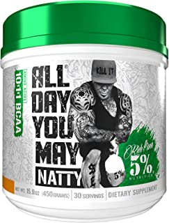 Sponsored Ad - Rich Piana 5% Nutrition All Day You May NATTY 10:1:1 BCAA, 9g of Amino Acids   Elite Muscle Recovery, Hydra...