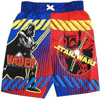 STAR WARS Little Toddler BoysロイヤルブルーレッドDarth Vader水着短パン2?–?4t