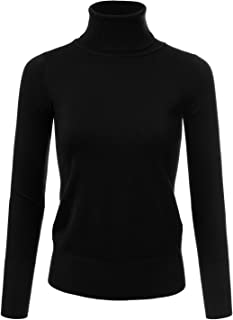 Women's Stretch Knit Turtle Neck Long Sleeve Pullover Sweater