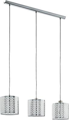 EGLO Leamington 1 lámpara colgante, 60 W, Nickel-matt, Chrom