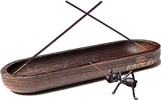 ESOLEI™ Incense Burner Incense Holder Wood | Handmade Extra Large Boat Shaped Incense Stick Holder 28x10cm for Nag Champa,...