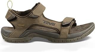 Teva Men's Tanza Leather Sandal, Walnut, 9.5 US