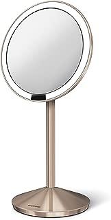 simplehuman Mirror 10X Magnification with 12 cm Sensor, Rose Gold [Makeup Mirror ST3010]