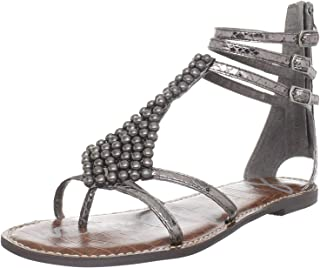 Sam Edelman Women's Ginger Sandal, Pewter Croco, 8 M