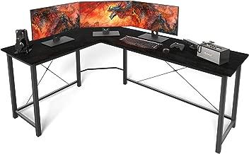 L Shaped Desk Home Office Desk Corner Computer Desk Sturdy Computer Table Writing Desk Gaming Desk Workstation, Black