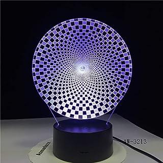 Abstrait 3D Coloré Visuel Led Forme Nuit Lumières Usb Animal Lampe De Table Chambre Éclairage Accessoire Décor Avec Téléco...