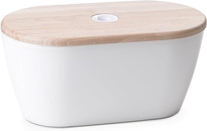37 opinioni per Omada Design linea Woody cassetta portapane colorata con coperchio ad uso