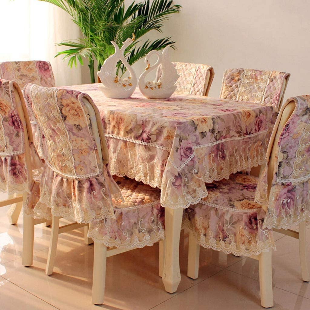Amazon.com  Dining Room Chair Seat Covers Lace European Pastoral ...