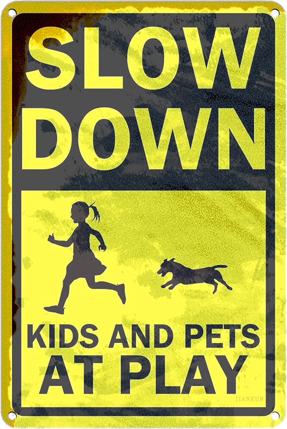 J.DXHYA Man Cave Decor 2 Pieces Oakland Mall Slow Play Kids OFFicial store X Down 8 at Sign