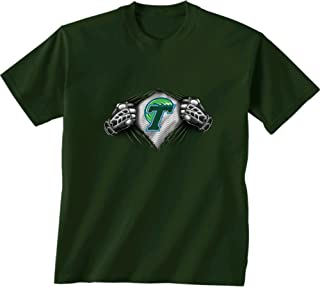 New World Graphics NCAA Tulane Green Wave Children Unisex Youth Super Short Sleeve Tee, X-Large, Forest