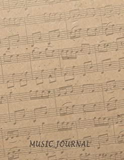Music Journal: 8.5x11 120 Pages of Blank Sheet Music Composition and Notation A Manuscript Staff Paper/Music Composing / Songwriting/Piano/Guitar/Violin/Keyboard