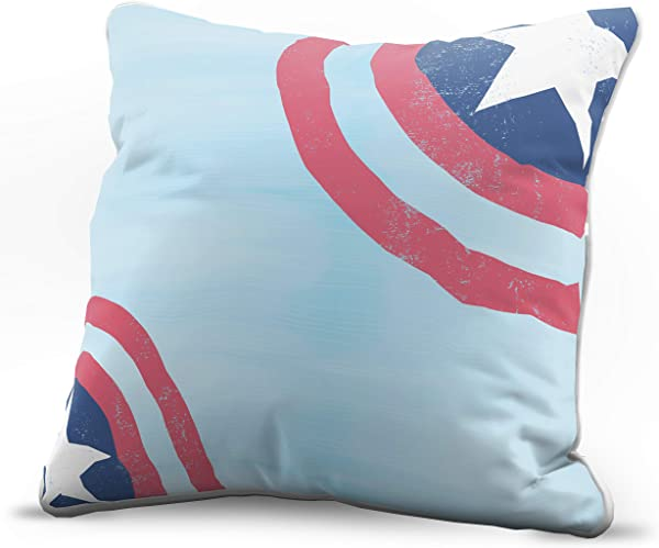 Jay Franco Marvel Avengers Capt Corners Decorative Pillow Cover Kids Super Soft 1 Pack Throw Pillow Cover Features Captain America Measures 15 Inches X 15 Inches Official Marvel Product